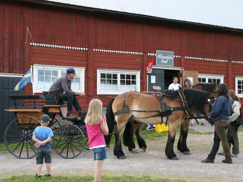 Met paard en wagen in Bullerbyn