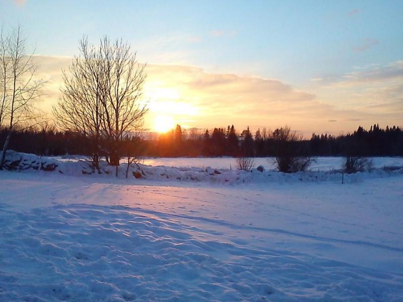 Zonsondergang op Gråssfall